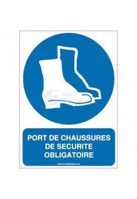 Panneau Port de Chaussures de Sécurité Obligatoire-V