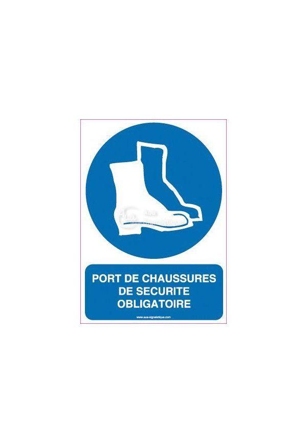 Panneau Port de Chaussures de Sécurité Obligatoire-Verticale d19b56442664