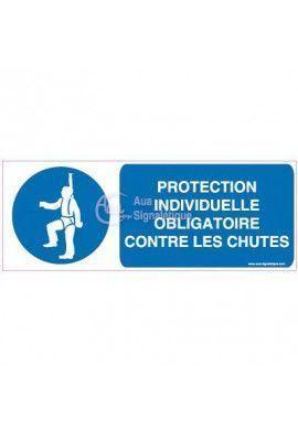 Panneau Protection individuelle obligatoire contre les chutes Horizontal