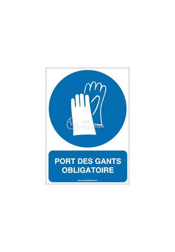 Panneau port des gants obligatoire vertical for Le ramonage est il obligatoire