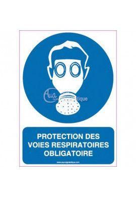 Panneau Protection des Voies Respiratoires Obligatoire - Verti