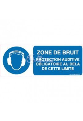 Panneau Zone de Bruit Protection Auditive...