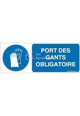 Panneau Port des Gants Obligatoire Horizontal