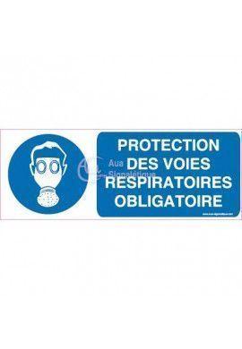 Panneau Protection des Voies Respiratoires Obligatoire - Horiz