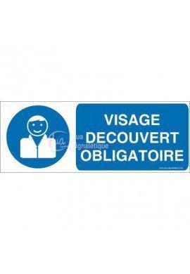 Panneau Visage Découvert Obligatoire 02