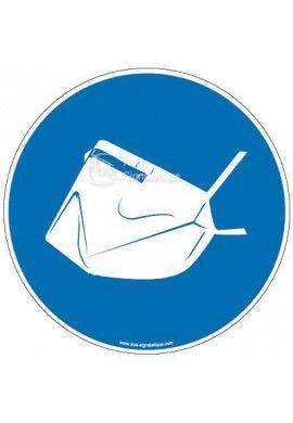 Panneau port du masque anti-grippe obligatoire