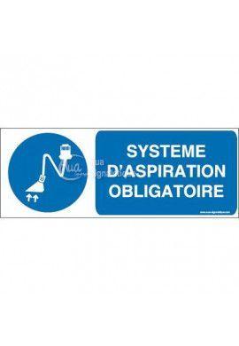 Panneau système d'aspiration obligatoire B