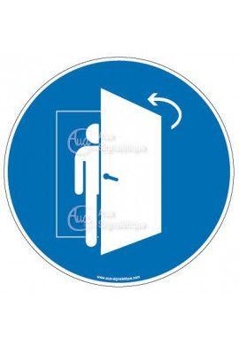 Panneau fermer la porte