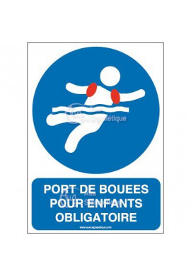 Panneau Port de bouées pour enfants obligatoire-AI