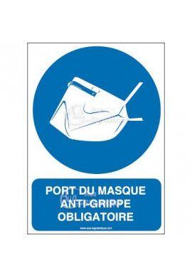 Panneau Port du masque anti-grippe obligatoire-AI