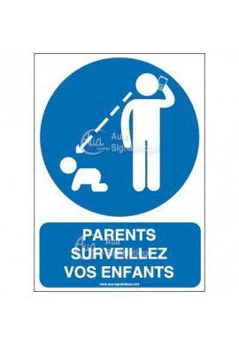 Panneau Parents surveillez vos enfants-AI