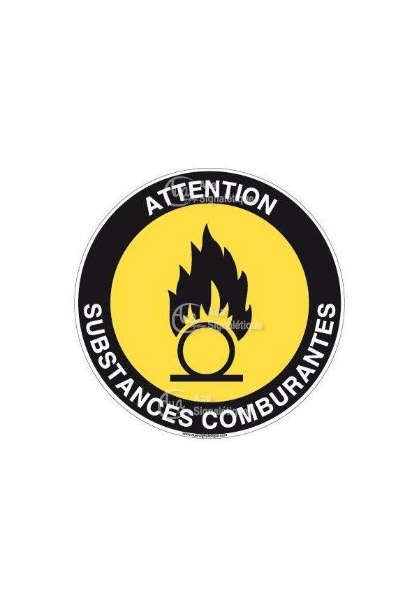 Panneau attention substances comburantes