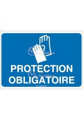 Panneau protection obligatoire des mains - 01