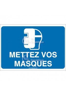 Panneau mettez vos masques - 01