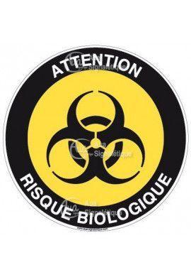 Panneau attention risques biologique