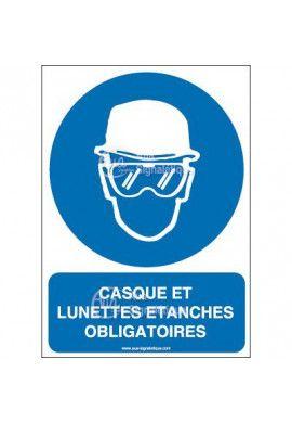 Panneau casque et lunettes étanches obligatoires