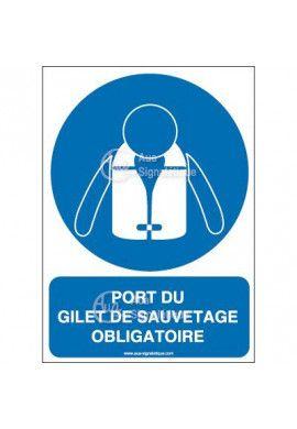 Panneau port du gilet de sauvetage obligatoire