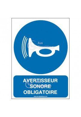 Panneau avertisseur sonore obligatoire