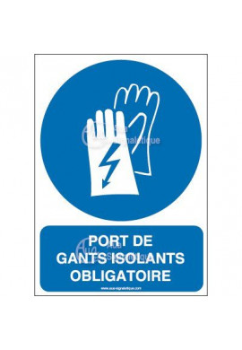 Panneau port de gants isolants obligatoire