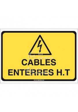 Panneau câbles enterrés haute tension horizontal