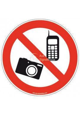 Panneau Téléphone et photo interdit