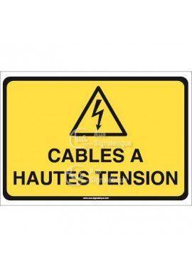 Panneau câbles à haute tension horizontal