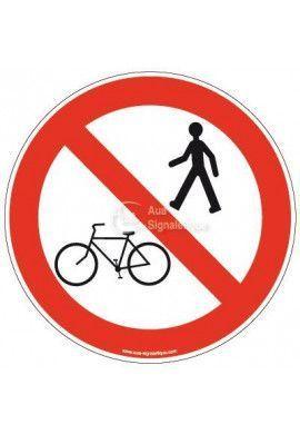 Panneau Vélo et piéton interdit