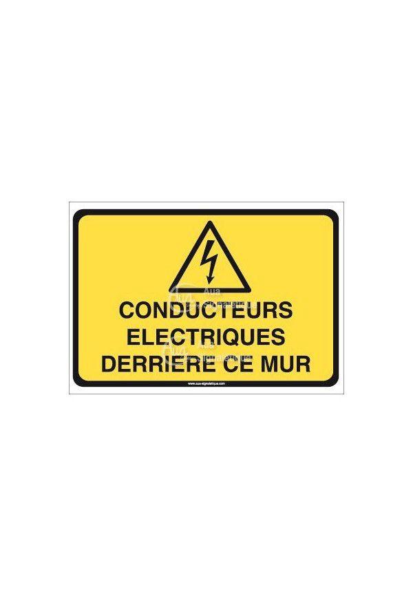 Panneau conducteurs électriques derrière ce mur
