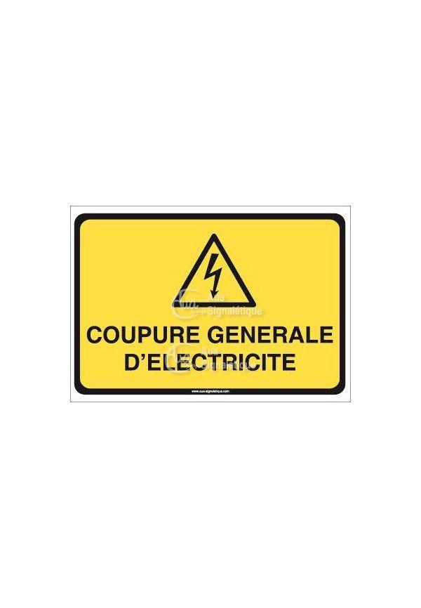 Panneau coupure général d'électricité horizontal