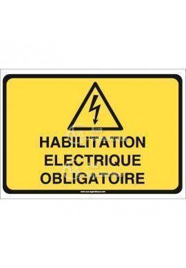 Panneau habilitation électrique obligatoire