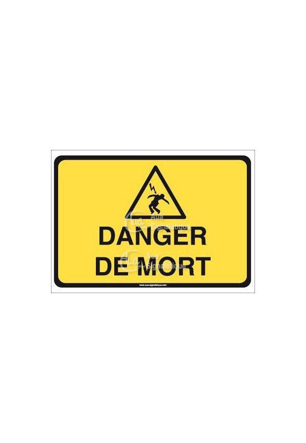 Panneau danger de mort - horizontal