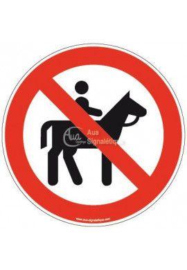 Panneau Cavalier interdit