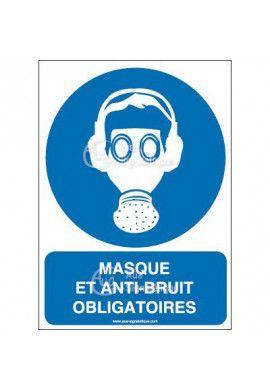 Panneau masque et anti-bruit obligatoire AI