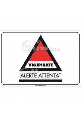 Panneau Vigipirate Alerte Attentat - Horizontal