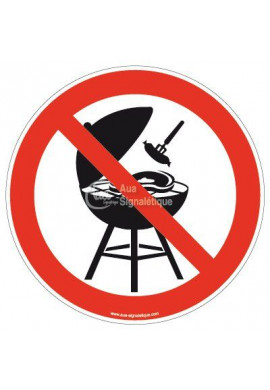 Panneau Barbecue Interdit