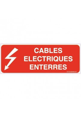 Panneau Câbles électriques enterrés