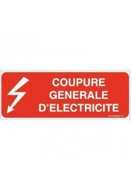 Panneau Coupure générale d'électricité