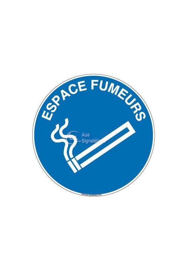 Panneau Espace fumeur texte-R
