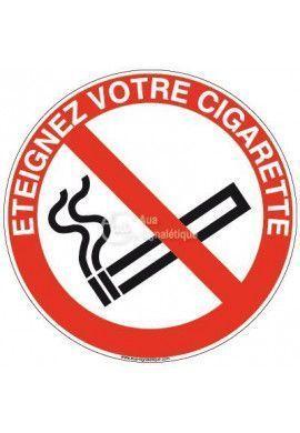 Panneau Éteignez votre cigarette-R