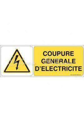 Panneau coupure général d'électricité - B