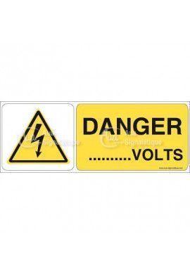 Panneau danger volts - B