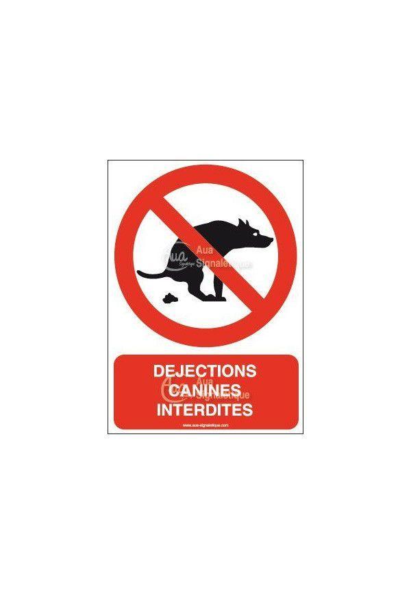 Panneau Déjections canines interdites-AI