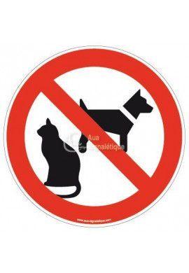 Panneau Animaux interdit - R