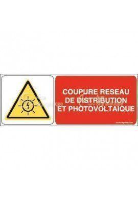 Panneau coupure réseau de distribution et photovoltaïque - B
