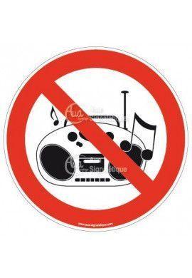 Panneau musique interdite