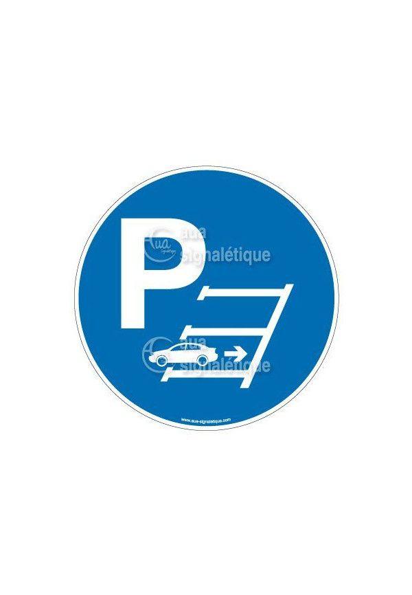 Panneau Parking Veuillez-vous Garer en Marche Arrière