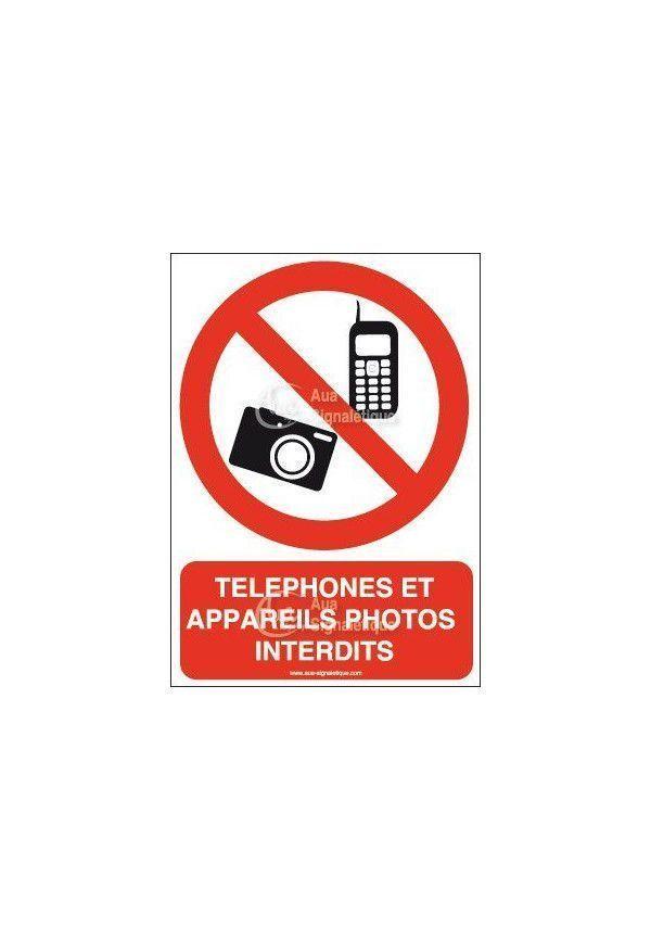 Panneau Téléphones et appareils photos interdits-AI