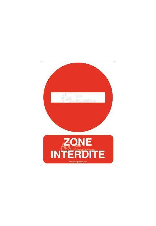 Panneau Zone interdite-AI