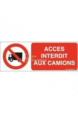 Panneau Accès interdit aux camions-B
