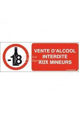 Panneau Vente d'alcool interdite aux mineurs-B